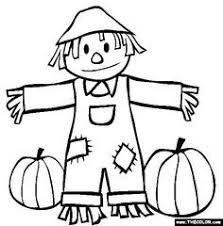 Small Picture FREE Printable Scarecrow Coloring Page for Kids Scarecrows Rock