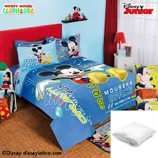 disney mickey space 6 pc comforter set twin bundled with one pillow protector
