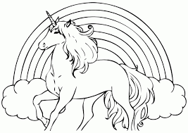 unicorn coloring pages for kids with simplistic free unicorn coloring pages cute my little page print