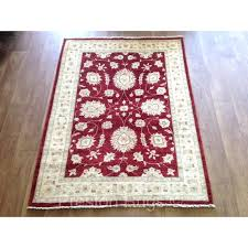 red wool rug afghan genuine hand knotted traditional wool rug cream red red wool rug