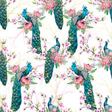 Peacock Pattern Delectable Watercolor Peacock Pattern Stock Illustration Illustration Of