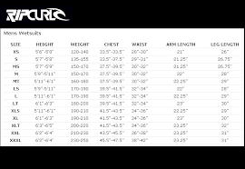 Rip Curl Dawn Patrol Size Chart Rip Curl Wetsuit Size Chart Us Best Picture Of Chart