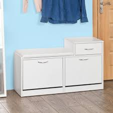 so shoe cabinet shoe storage bench with padded seat drawer fsr17 w