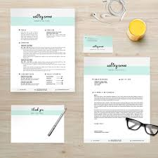 Resume Template Package Cv Template Cover Letter Business Card
