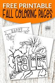 40+ free autumn coloring pages for printing and coloring. Free Printable Fall Coloring Pages Simple Mom Project