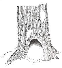 Small Picture The Mitten Hollow Tree Base coloring page Coloring pages