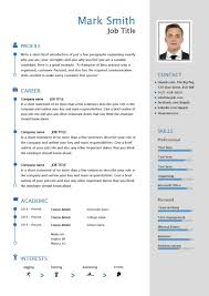 Cv Resume Template. Free Downloadable Cv Template Examples Career ...