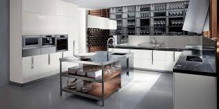 Black Marble Kitchen Countertops Versatile Stainless Steel Island White Cabinets Wall In Ovens
