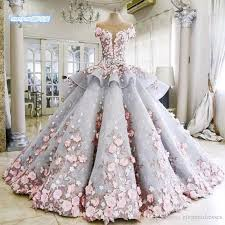 discount luxury new style 2017 lace wedding dresses 3d floral