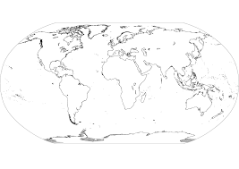 Small Picture World Map Coloring Page Best World Map Coloring Page Only