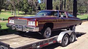 1974 Chevrolet Caprice Shops Laggard coming off tha trailer at tha ...