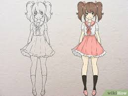 Anime hair is drawn using thick, distinct sections instead of individual strands. How To Draw An Anime Body With Pictures Wikihow