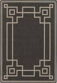 dark gray greek key outdoor rug