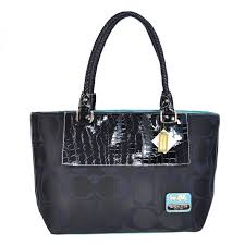 Coach Embossed In Signature Medium Black Totes BMS  coach-1203452  -  63.99    Coach Bag