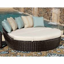 sunset west cardiff round 2 piece daybed with cushions in rich walnut