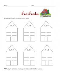 Fact Family Worksheets Printable Activity Shelter Addition And ...