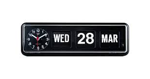 retro calendar wall clock flip clocks lovely vintage office school x quartz modern black twemco german