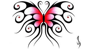 Draw A Design How I Draw A Swirly Symmetrical Butterfly Design