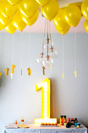 a really simple low key 1st birthday party i love the marquee