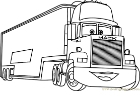 Small Picture Mack from Cars 3 Coloring Page Free Cars 3 Coloring Pages