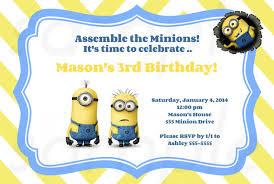 Birthday Party Invitation Card Template Free Minions Birthday Invitation Template Free Printable Minion Birthday