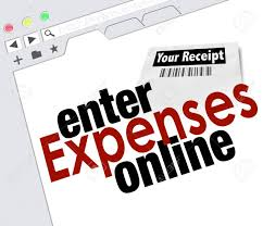 Website Screen With Words Enter Expenses Online For Adding Receipts