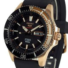 seiko mens models automatic seiko 5 s chronograph titanium seiko 5 sports black and rose gold rubber strap divers srp560j1 srp560