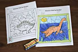 Huge collection of dinosaur coloring pages. Free Dinosaur Color By Number Worksheets