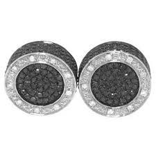 Shop <b>Sterling Silver 1ct</b> TDW Black and White Diamond Stud ...