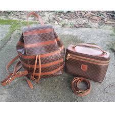 céline paris 90 s vintage monogram leather backpack sling bag item for céline paris 90 s vintage monogram backpack vintage monogram sling bag