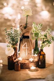 wine bottle and burlap table numbers and rustic wedding decor xx