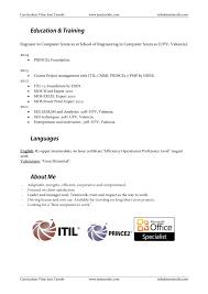 Ejemplos De Resume En Ingles Ejemplo De Currículum Vítae En Inglés Quiero Encontrar Trabajo 10