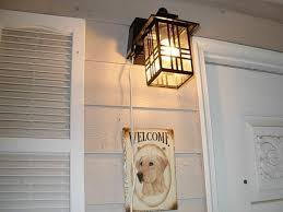 hampton bay exterior wall lantern with built in electrical outlet gfci. hampton bay mission style black with bronze highlight outdoor wall lantern built-in electrical outlet (gfci) 30264 at the home depot - mobile exterior built in gfci l