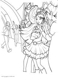 Barbie Coloring Pages The Princess The Popstar