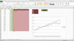 forecast model in excel forecasting in excel using simple linear regression youtube