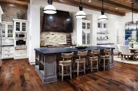 Small Picture Rustic Modern Kitchen Design Brown Wooden Top Grey Color Granite