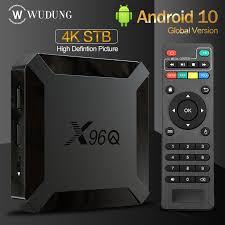 <b>X96Q</b> Smart <b>Tv Box Android</b> 10.0 Set - Top Box Digital TV Converter ...