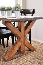 farmhouse x base table buildsomething com