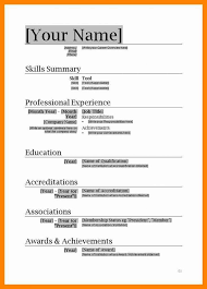 Word 2007 Resume Template Best of Basic Resume Layout In Microsoft Word 24 Free Download Resume