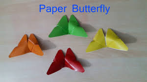 How To Make Butterfly With Color Paper Diy Paper Butterflies