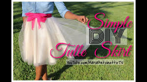 simple diy tulle skirt mariaantoinettetv