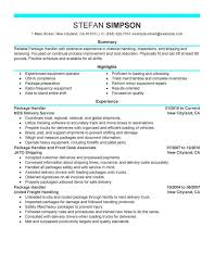 Mail Handler Resume Mail Handler Resume Examples Pictures Hd Aliciafinnnoack