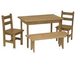 dining set wood. amish maple wood kids dining table set