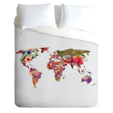 deny designs green its your world duvet cover queen bedding