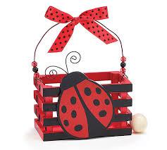 product details ladybug wood crate