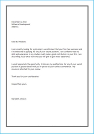 Job Cover Letter Format 2559