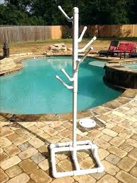 fabulous pool towel rack 9 s outdoor spa and