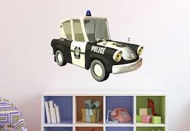 police car wall decal kids room interior decals