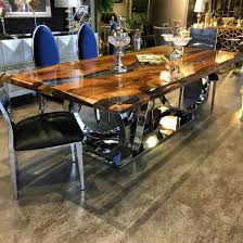 Kitchen Table Design Photos Walnut Epoxy Table By Lara Wood Wood Table Wood Table
