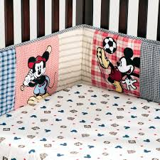 image of mickey mouse crib bedding set